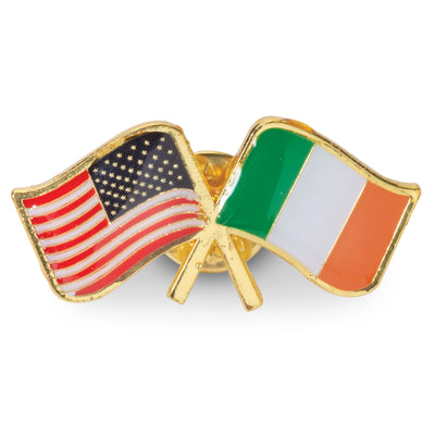 Irish American Lapel Pin