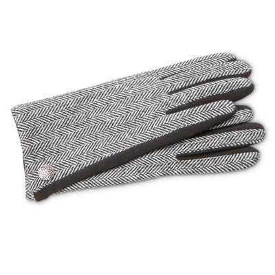 Black Herringbone Gloves