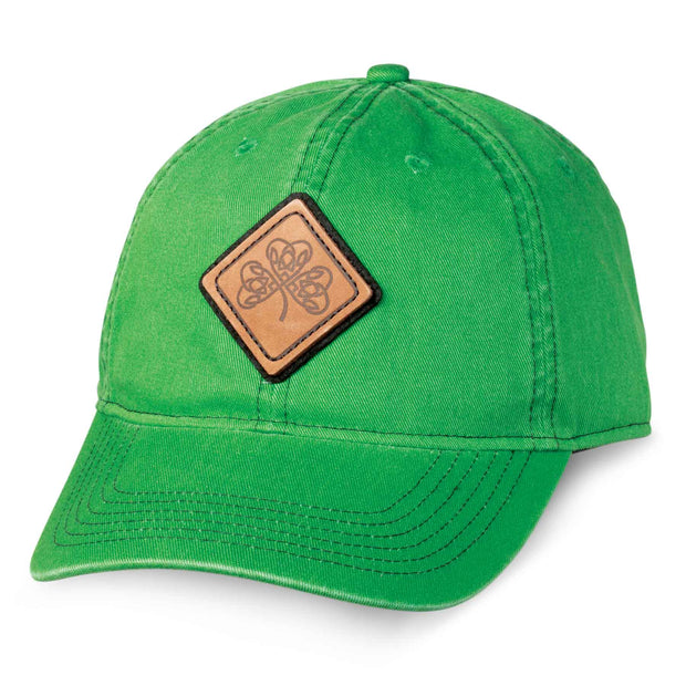Kelly Green Hat with Leather Patch