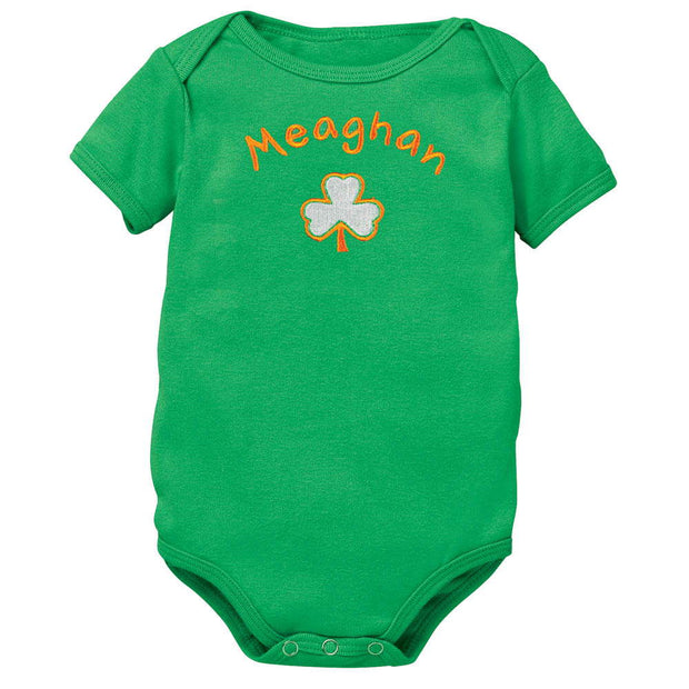 Personalized Shamrock Romper