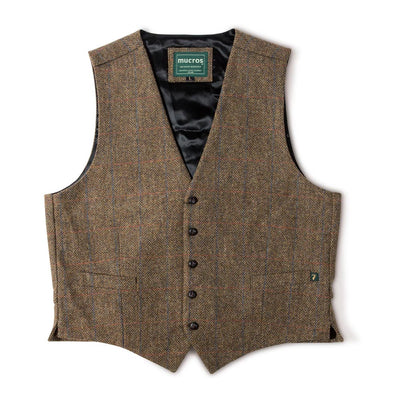 Brown Tweed Vest
