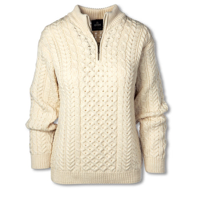Cream Quarter Zip Sweater