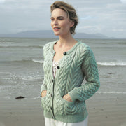 Seafoam Button Up Cardigan