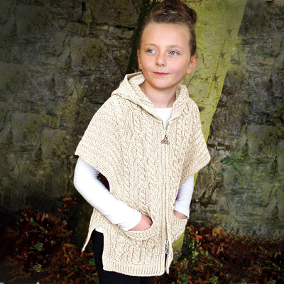 Kid's Zip Front Tunic Sweater