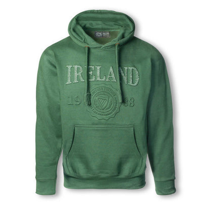Ireland Embossed Hooded Sweatshirt