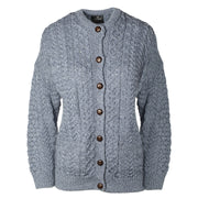 Button Front Cardigan, Denim