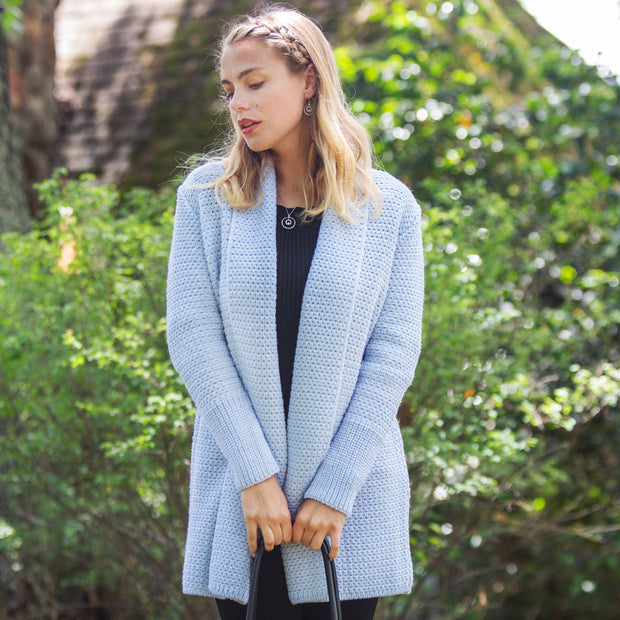 Textured Jacket, Ice Blue