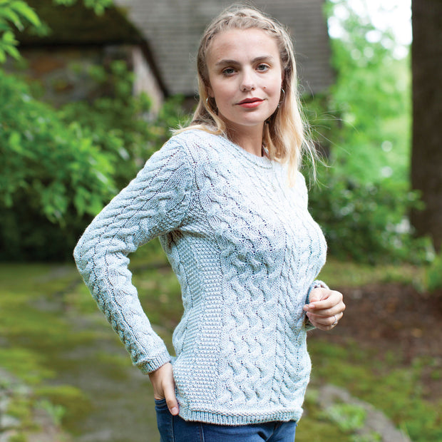 Achill Sweater, Ice Blue