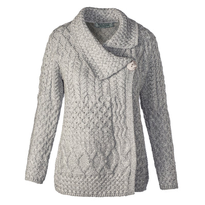 Side Button Cardigan, Soft Grey