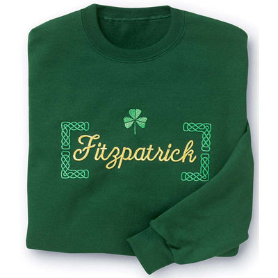 Personalized Crew Neck Sweatshirt with Shamrock