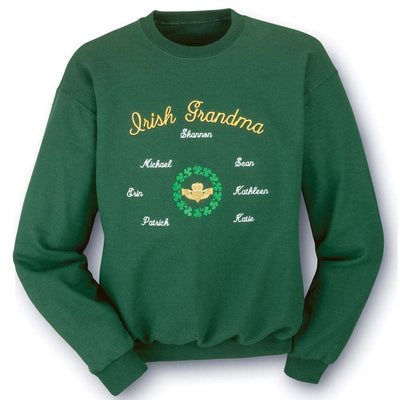 Irish Grandma, Grandpa, Mom, or Dad Sweatshirt