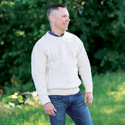 Classic Crew Neck Aran Sweater
