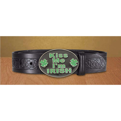 Kiss Me I'm Irish Buckle