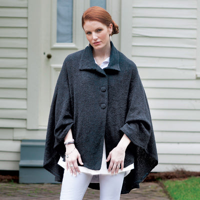 Black Tara Mohair Cape
