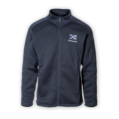 Men's Personalized Scottish Flag Fleece Jacket