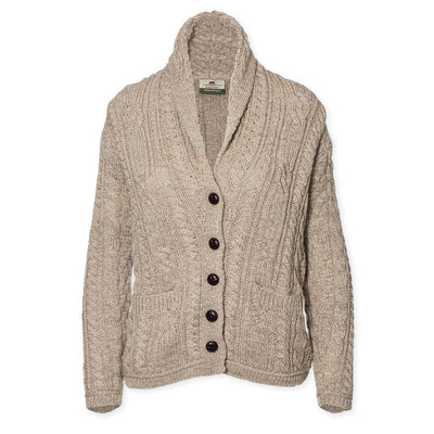 Cable Shawl Cardigan