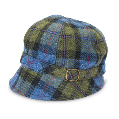 Green Plaid Flapper Hat