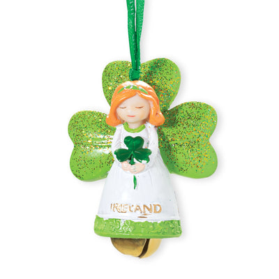Ireland Angel with Bell Ornament