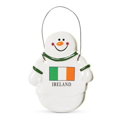 Snowman Ireland Flag Ornament