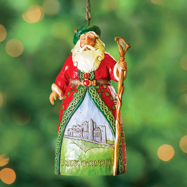 Jim Shore Irish Santa Ornament