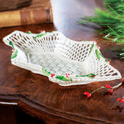 Belleek Holly Basket
