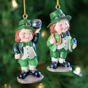 Lucky Leprechaun Ornament Set