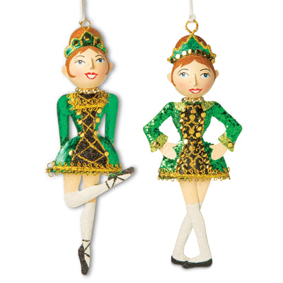 Irish Dancing Girl Ornament Set