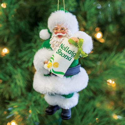 Nollaig Shona Santa Ornament