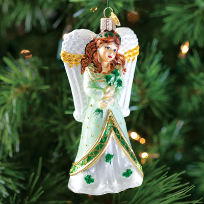 Old World Christmas Shamrock Angel