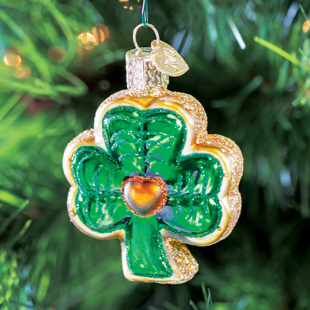 Old World Christmas Shamrock Ornament
