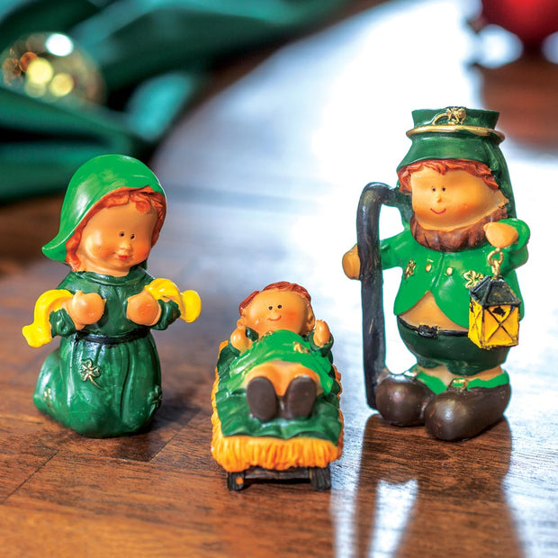 Leprechaun Nativity Set