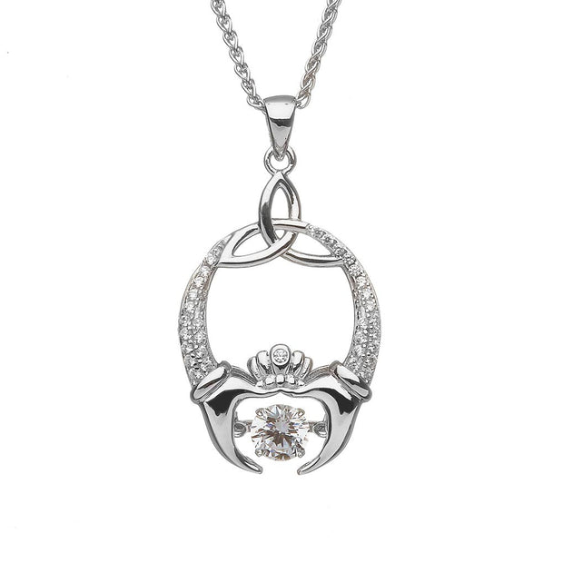 Dancing Stone Claddagh Necklace