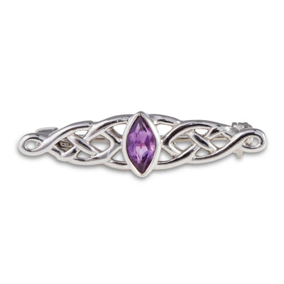 Amethyst Celtic Brooch