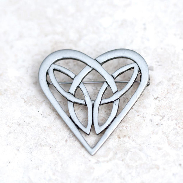 Celtic Heart Trinity Pin