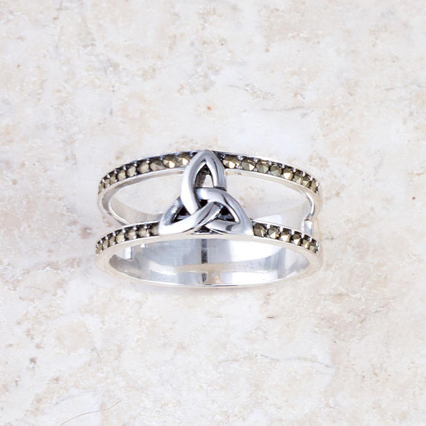 Marcasite Trinity Ring