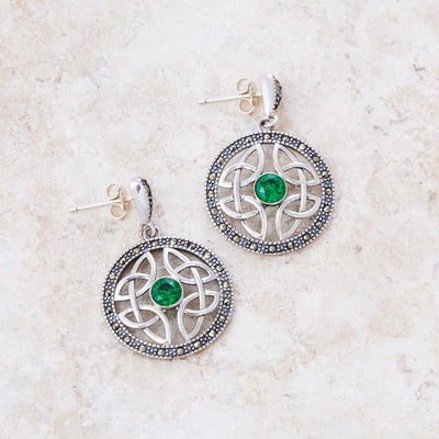Marcasite with Celtic Weave Earrings