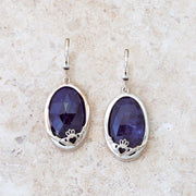 Claddagh Earrings with Sodalite Stone