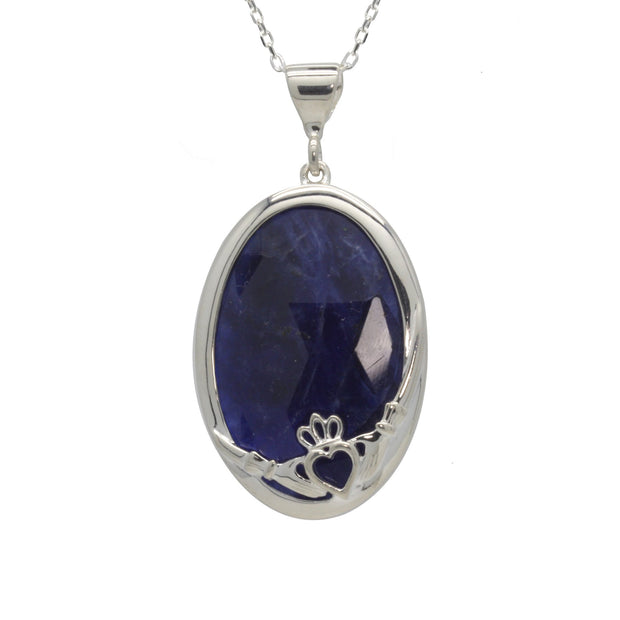 Claddagh Pendant with Sodalite Stone