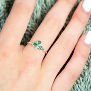 Dainty Shamrock Ring