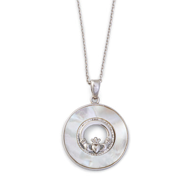 Mother of Pearl with Claddagh Necklace