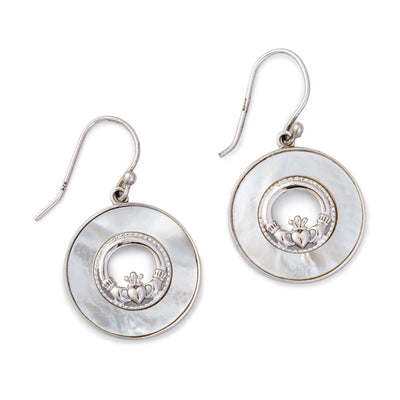 Mother of Pearl with Claddagh Earrings