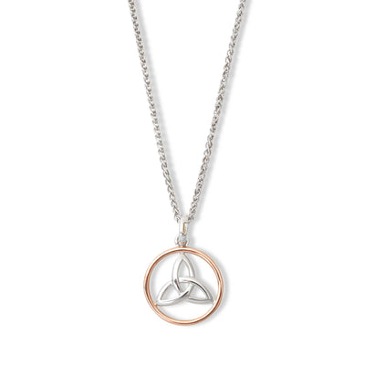 Silver and Rose Gold Trinity Necklace