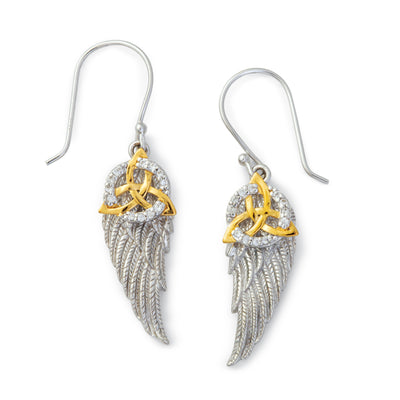 Trinity and Angel Wing Earrings