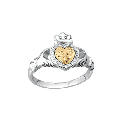 Moving Heart Claddagh Ring