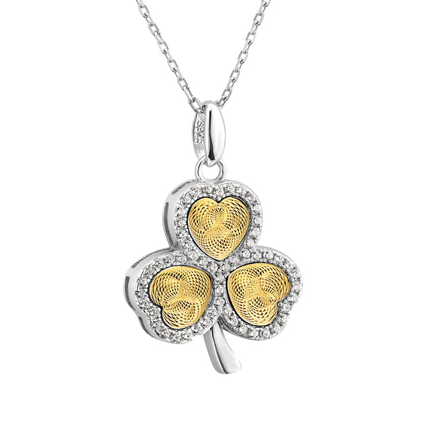 Moving Heart Shamrock Pendant