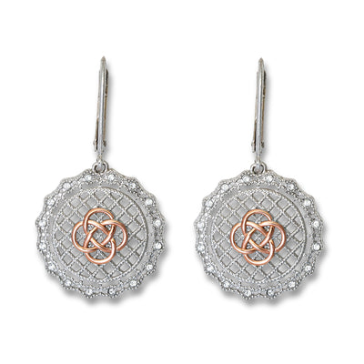 Celtic Knot Irish Lace Earrings