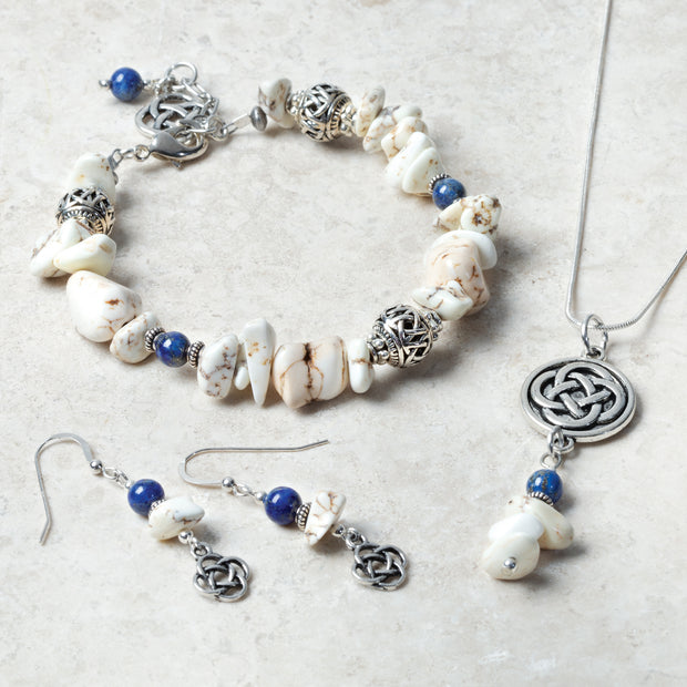 Howlite and Lapis Stone Necklace