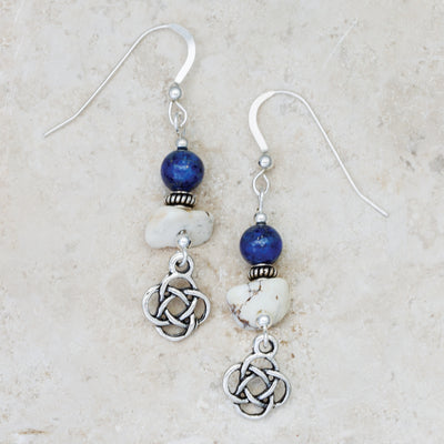 Howlite and Lapis Stone Earrings