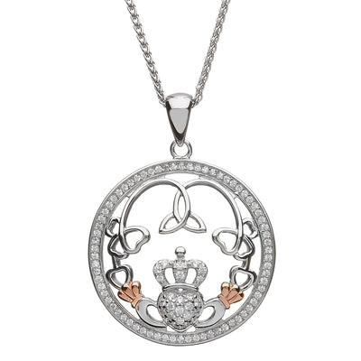 Claddagh and Trinity Necklace