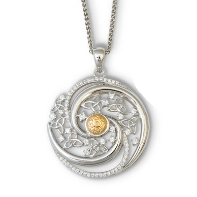 Solstice Trinity Swirl Necklace